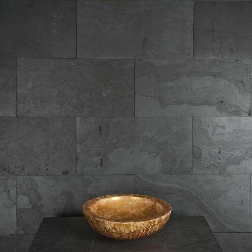 back splash sliced stone panels