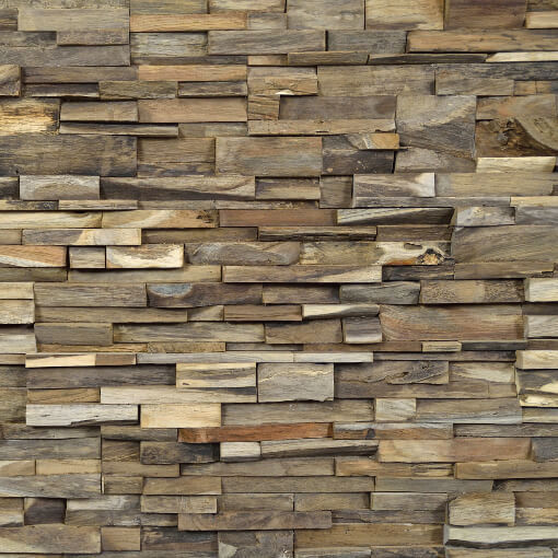 random stack timber panels