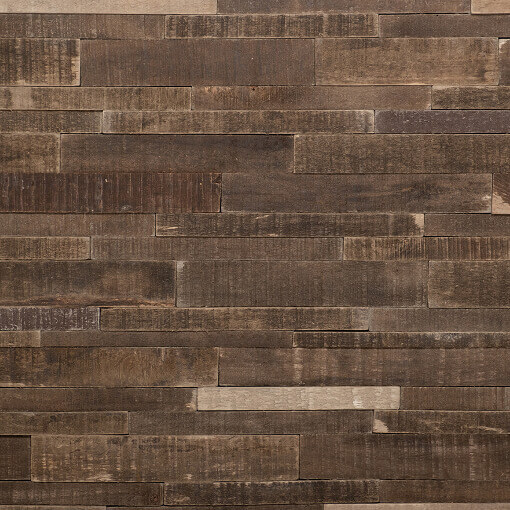3D wood splitface wall panels
